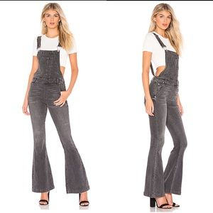 NWT Carly Flare Overall in Greyed Out Black Sz 29